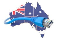 Australia with ethernet cable