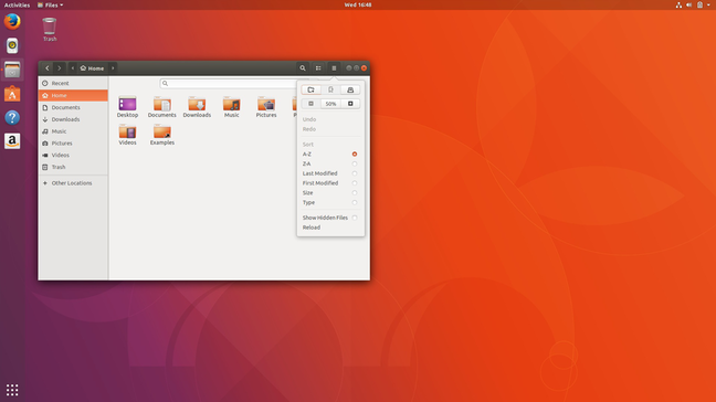 The GNOME Files app, somewhat different than the heavily patched version previous Ubuntu desktops used