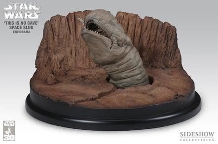 "A giant space slug, or ""Exogorth"", from The Empire Strikes Back"