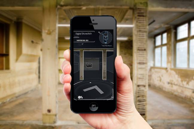 App for navigating the Shoreditch town hall basement
