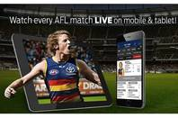 AFL website ad for streaming live games