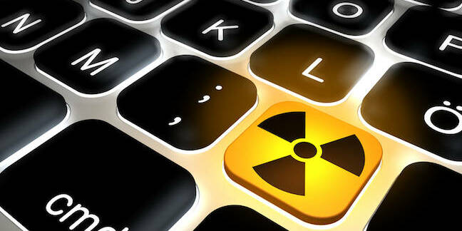 Radiation symbol on keyboard