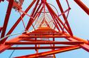 Beautiful geometric lattices inside mobile mast/antenna