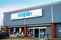 Basingstoke, UK - Entrance to the Maplin Electronics store