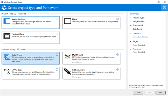 Windows Template Studio eases the path for non-designers working with UWP