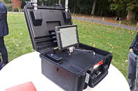 DJI Aeroscope drone locator, as seen in Brussels on 12 Oct 17