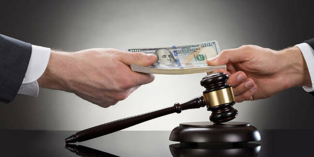 Paying a court fine