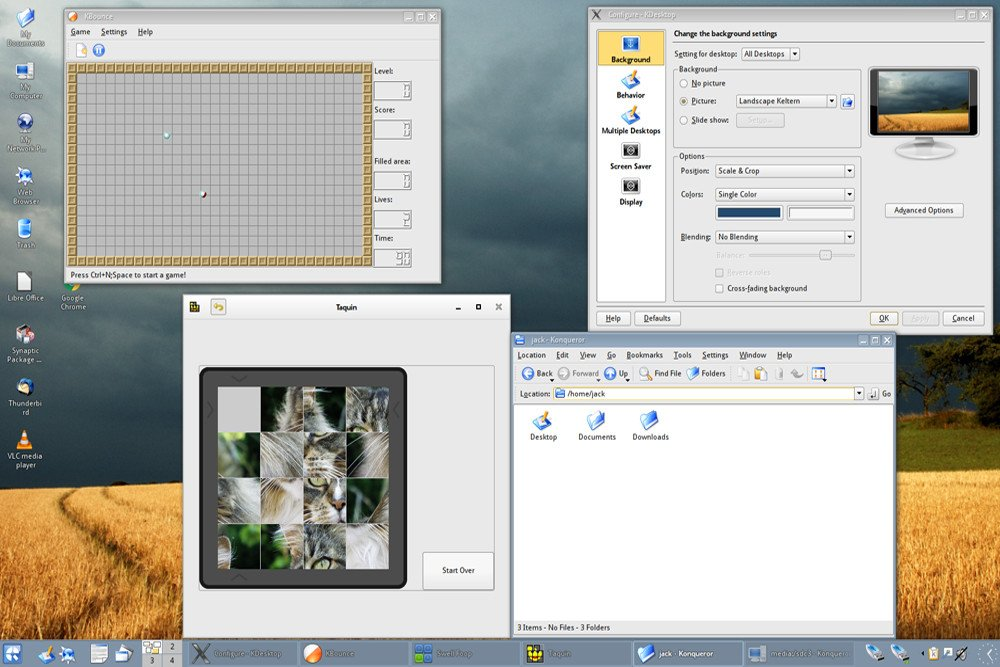 Fresh bit o linux to spruce up that ancient windows vista box why screenshot of q4os malvernweather Choice Image