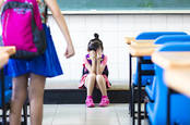 crying kids in school