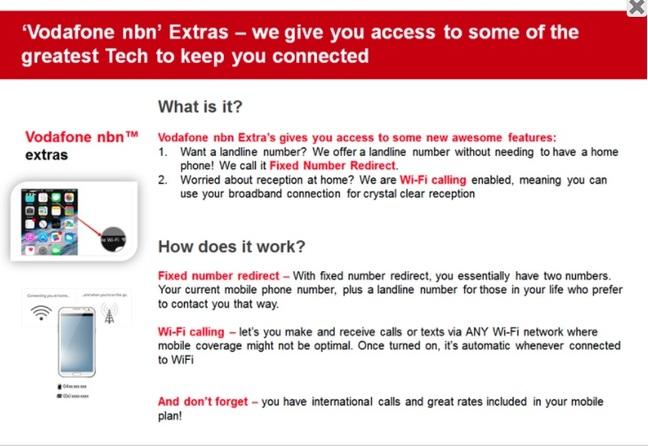 Vodafone NBN extras