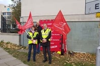 capita protest day 2 in reading - shot from reader
