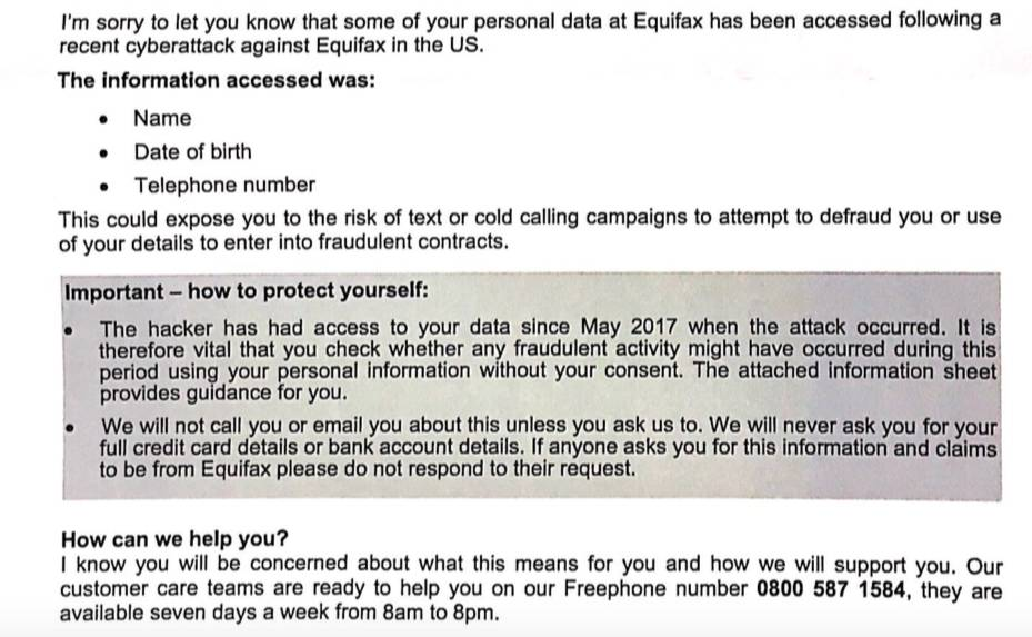 equifax number