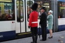 The Queen teaches transport users good manners