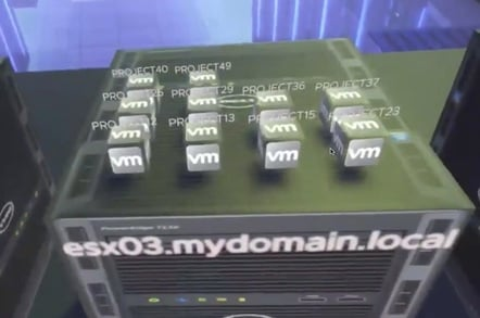 VMware VR data centre experience