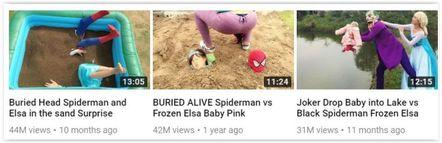 Creepy clips aimed at kids on YouTube