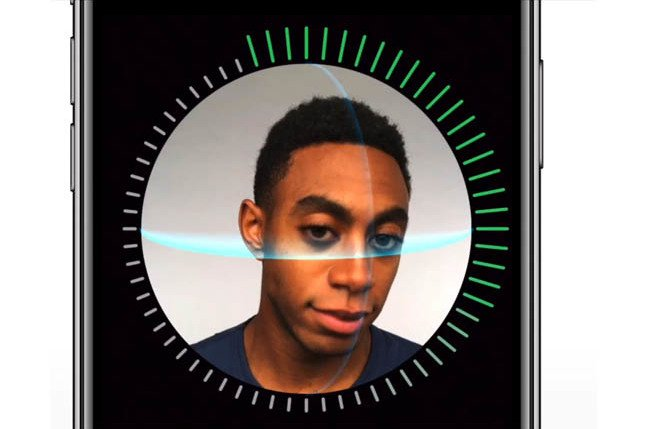 scrrengrab of iphone x face id from apple's website