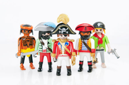 A group of Playmobil pirates