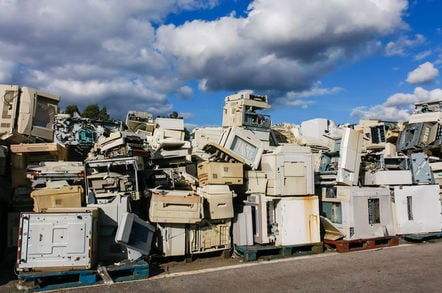 Landfill filled with computers