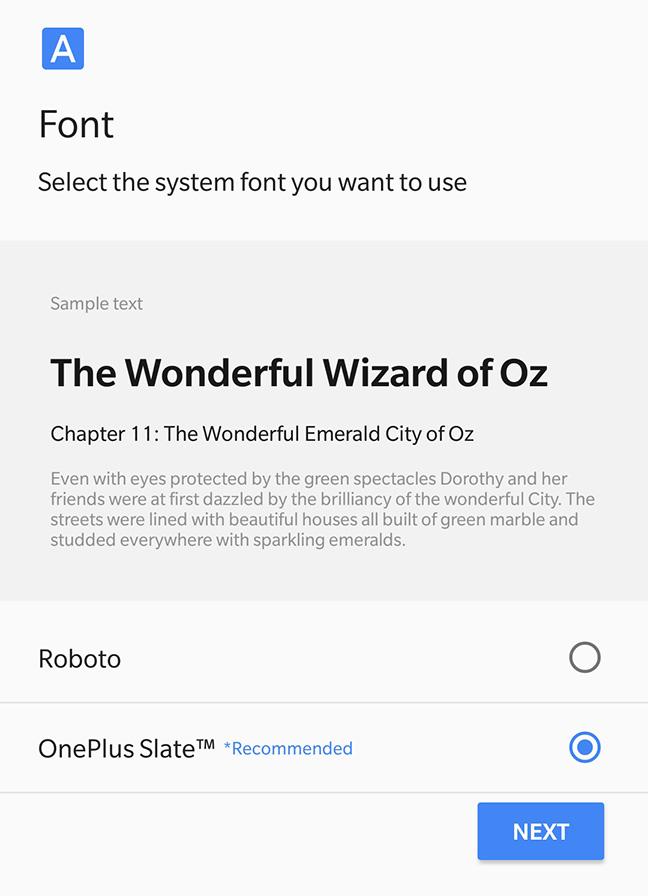 OnePlus 5T Font Chooser