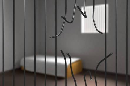 bars broken in jail cell