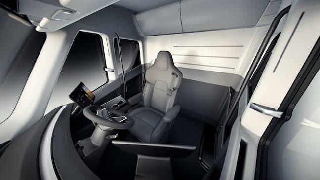 tesla truck interior