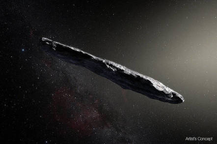 'Oumuamua artist's concept