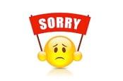 Sorry emoji