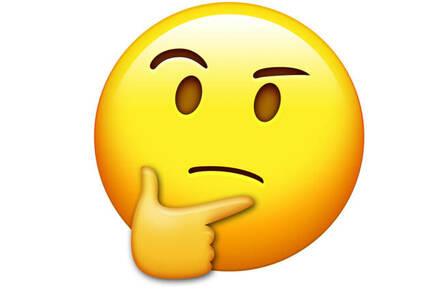 thinking emoji scratches chin