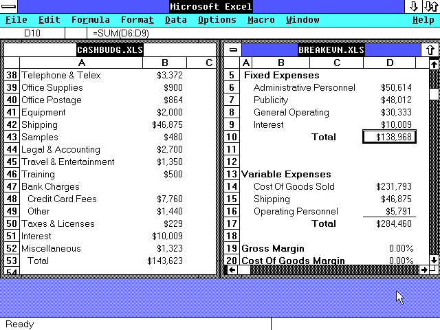 Excel edit screenshot