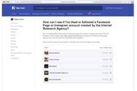 Facebook's Russian propaganda reporting tool