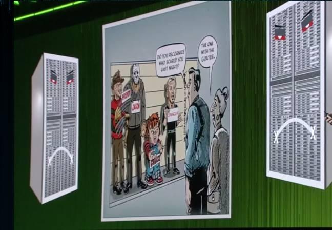 Oracle CEO Larry Ellison in cartoon lineup