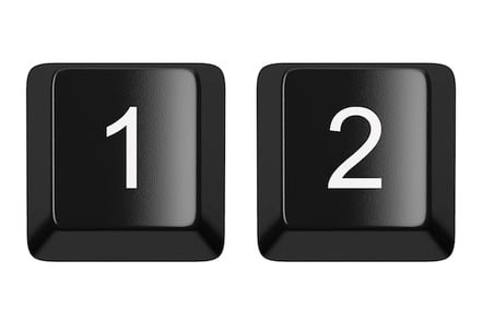One and two keys