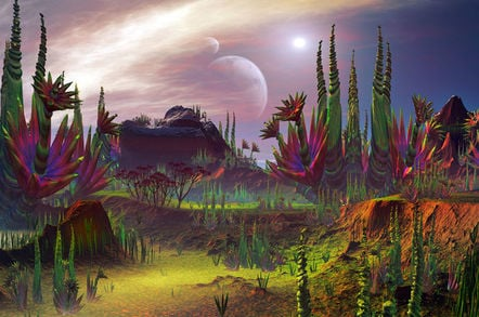 plant life on an alien planet