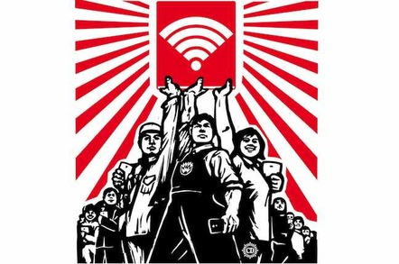 WiFi propaganda for the workers