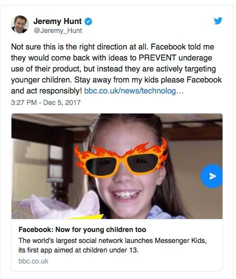 Facebook launch Messenger Kids