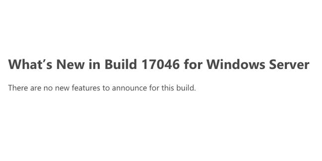 Build 17046 for Windows Server