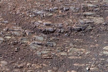 Perseverance valley, Mars, shot by Opportunity Rover in october 2017
