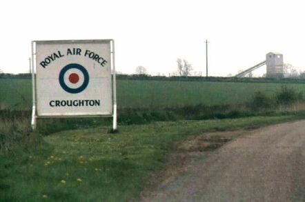 RAF Croughton sign. By Duane Park; public domain