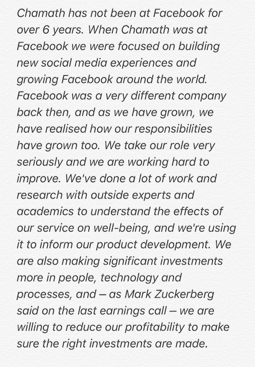 facebook responds