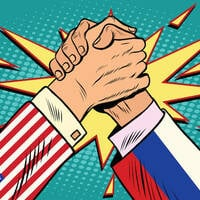 USA russia arm wrestle