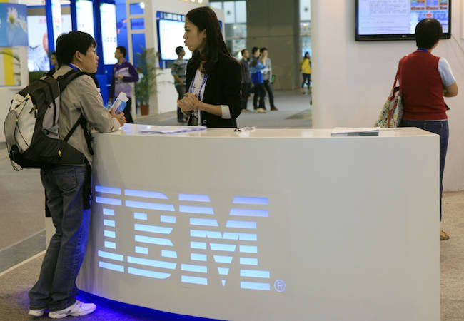 IBM shares fall on soft profit outlook