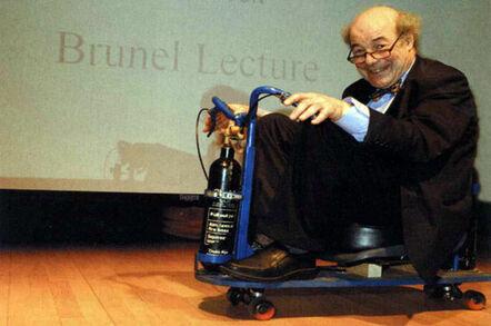 Professor Heinz Wolff. Pic: Brunel University