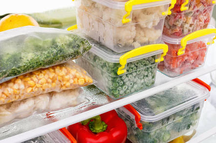 Containers in the fridge