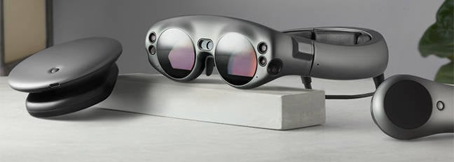 The Magic Leap goggles