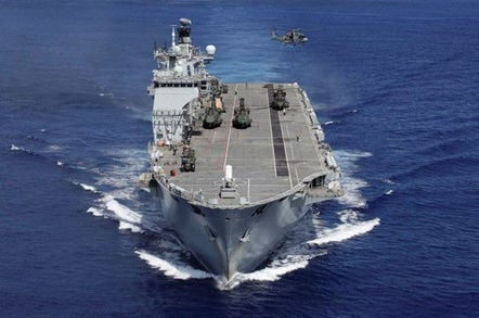 Helicopter carrier HMS Ocean is being sold to Brazil for £84m. Crown copyright