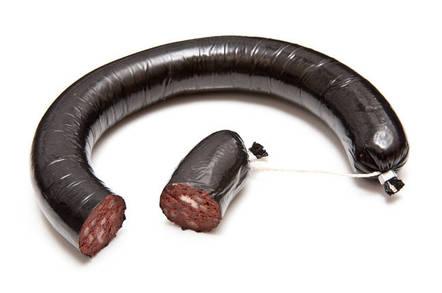 black pudding coil...
