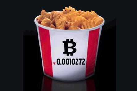 KFC Canada's bitcoin bucket