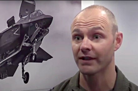 Sqn Ldr Andy Edgell, lead RAF test pilot, F-35 trials