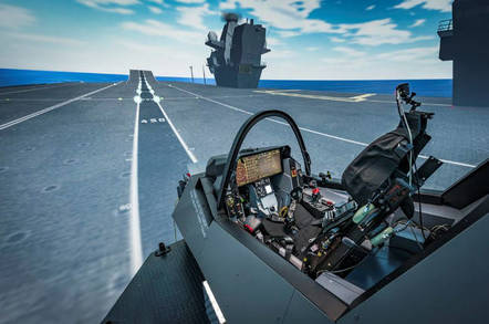 The F-35 simulator at Warton. Crown copyright