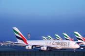 Emirates A380s at Dubai airport